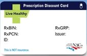 Rx discount card