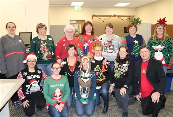 Linn County Auditor's Office Holiday Sweater Party