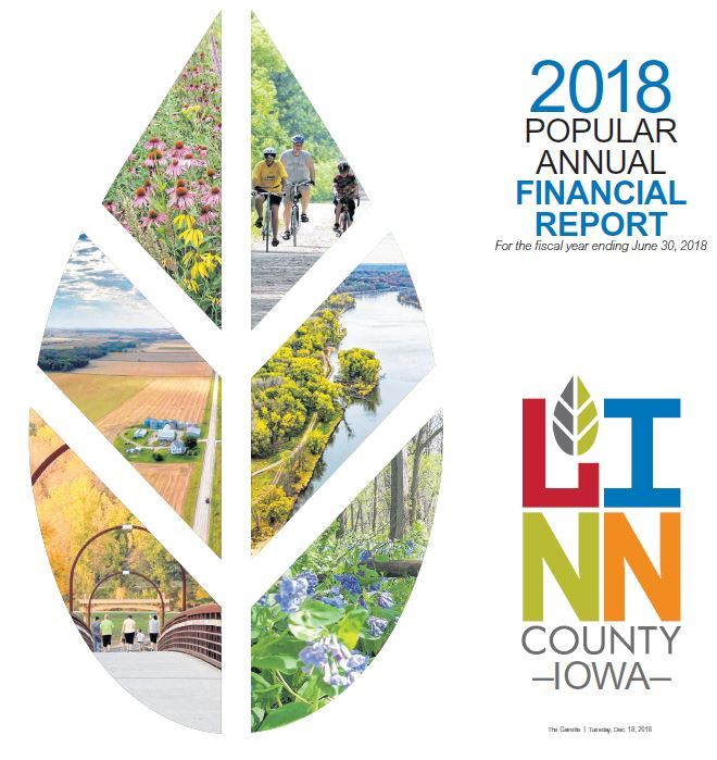Cover page for the FY18 annual report with Linn County logo