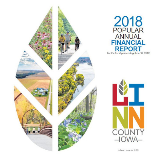 2018 Linn County Popular Annual Financial Report Cover