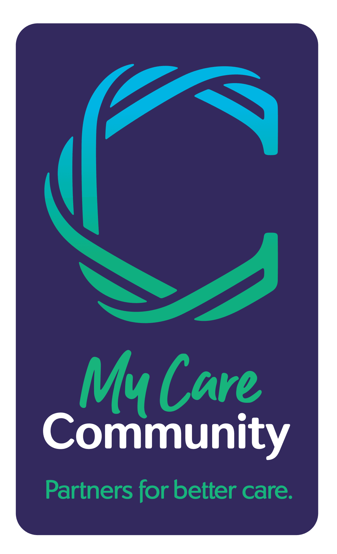 My Care Community logo, Partners for better care.