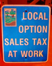 Local Option Sales Tax at Work sign