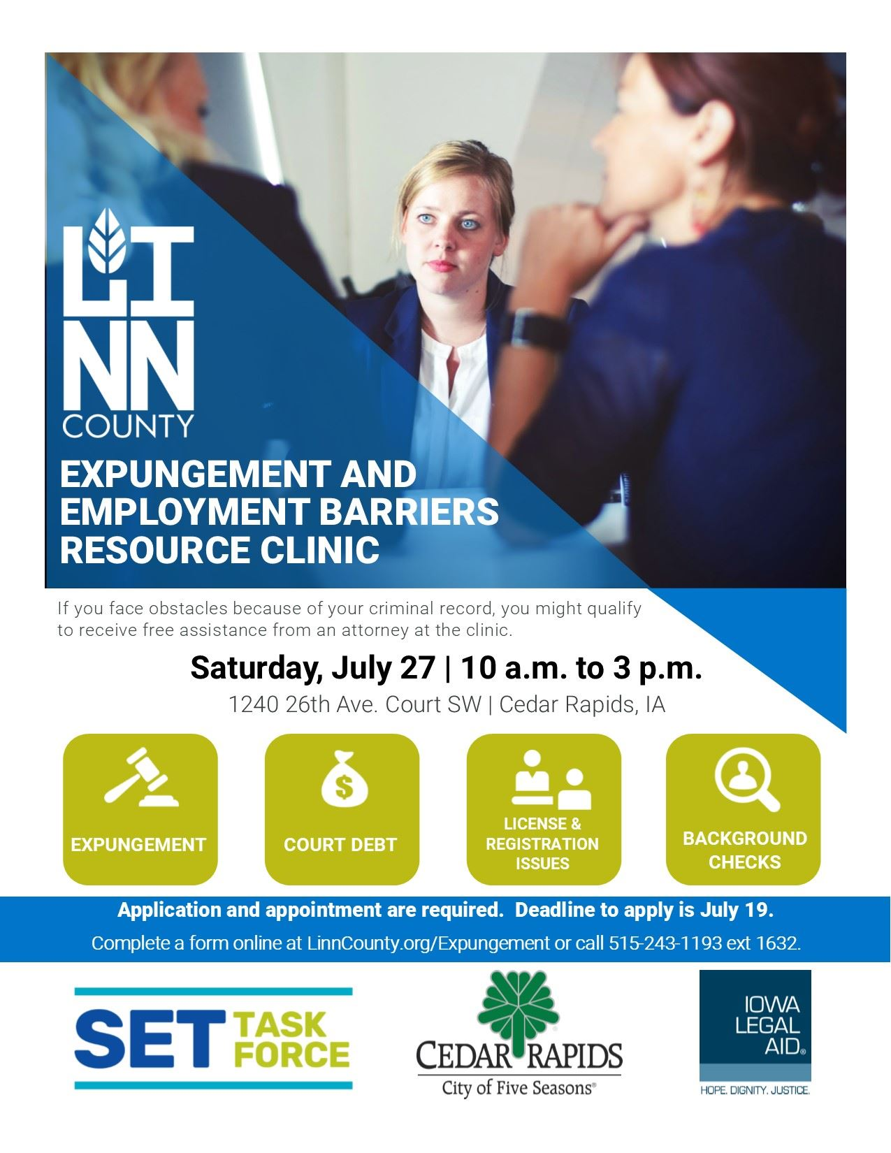 Expungement Clinic Flyer 2019