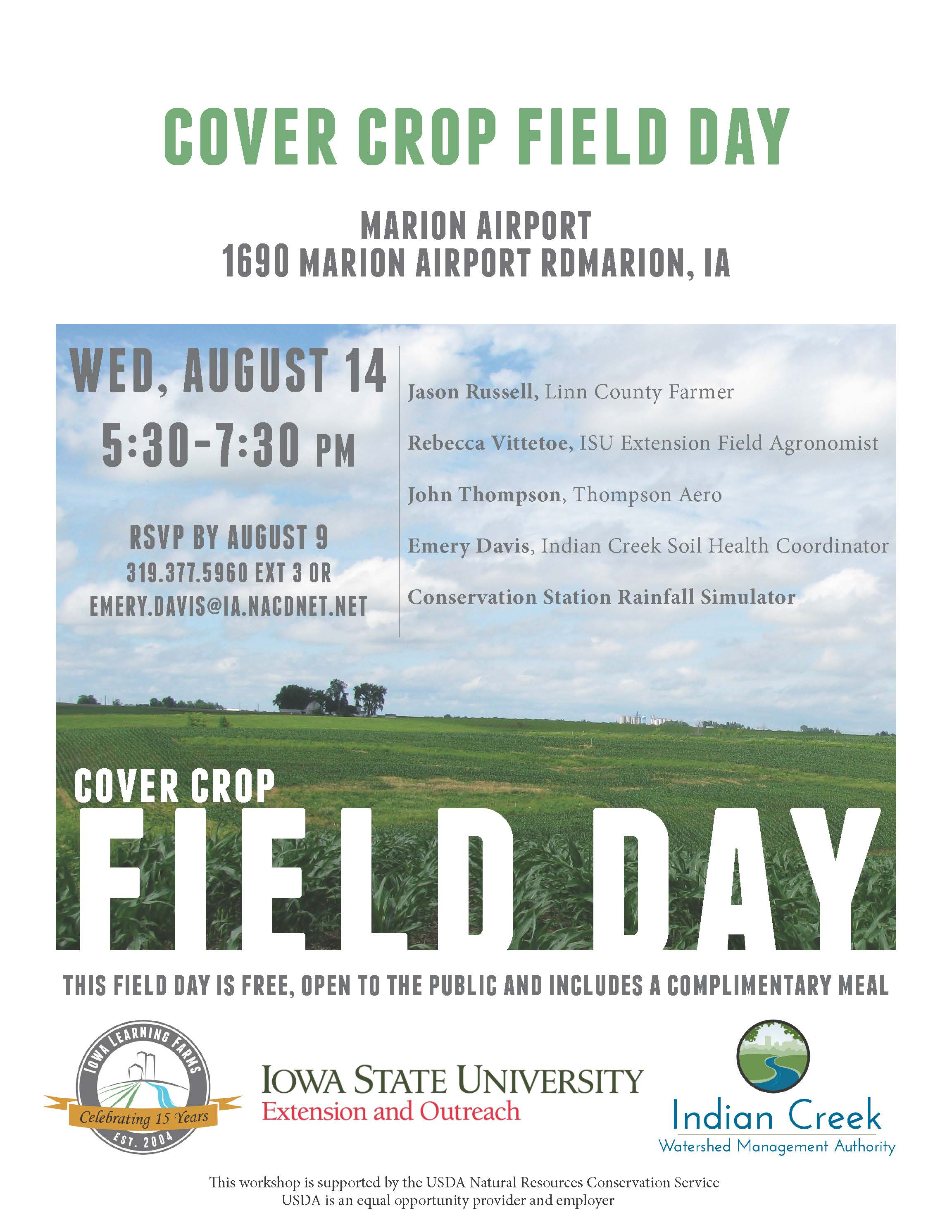 Linn County Cover Crop Field Day Flyer