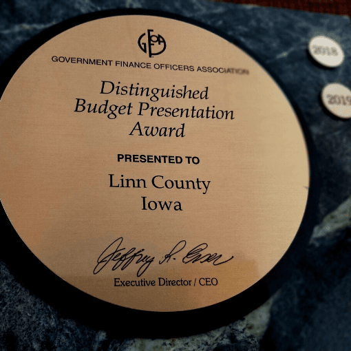Budget Award plaque