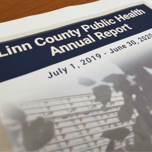 Cover of Linn County Public Health FY20 Annual Report