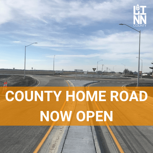 COUNTY HOME ROAD NOW OPEN