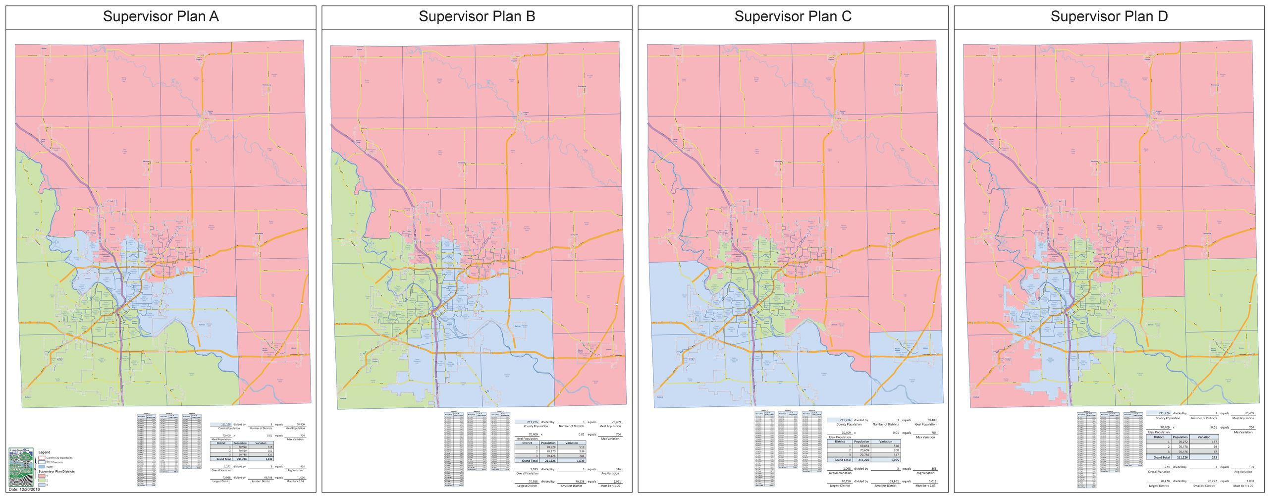 Supervisor Plans: Moving from 5 to 3 Supervisors in a Plan 3 County