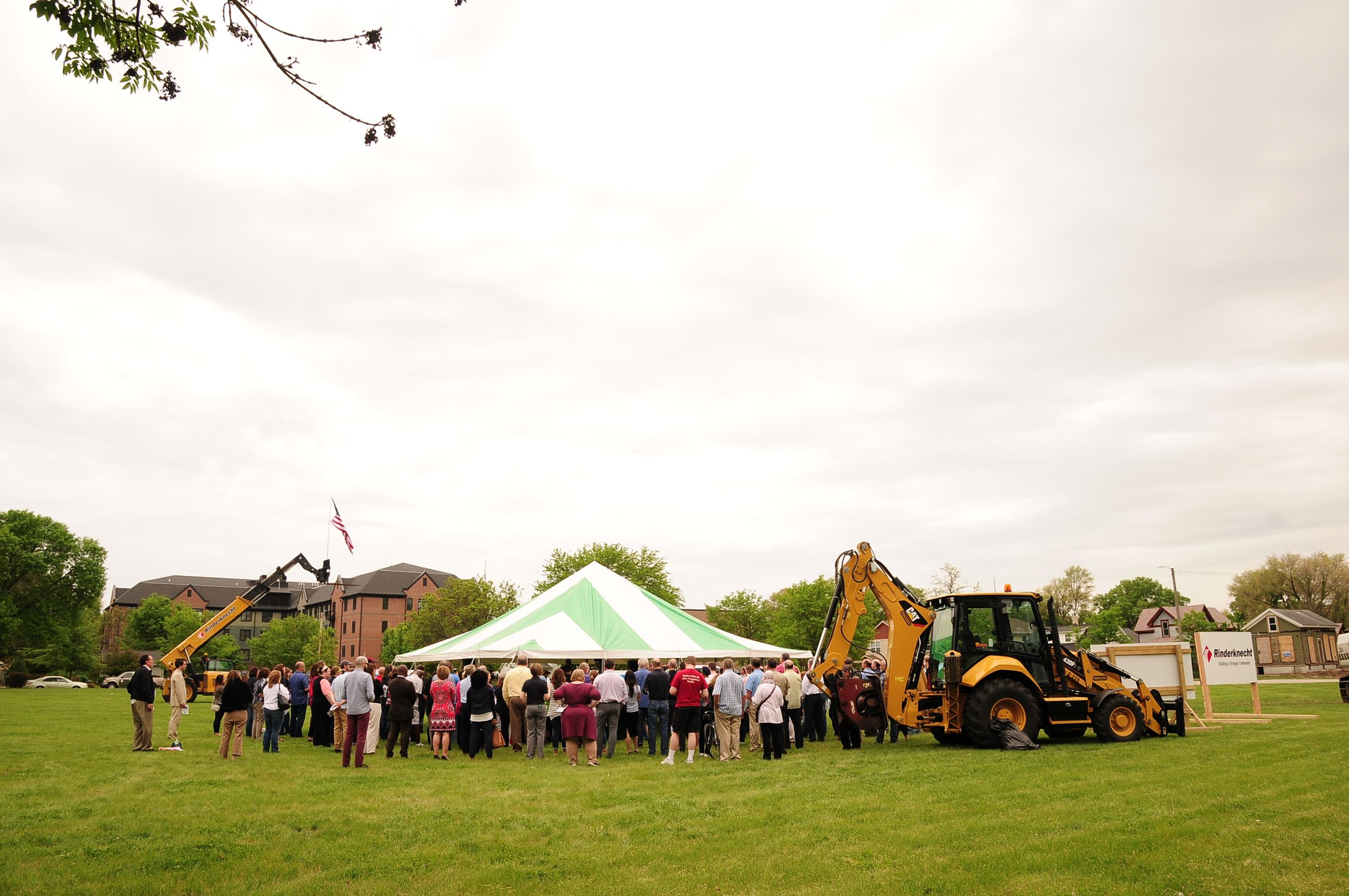Crowd at the groundbreaking