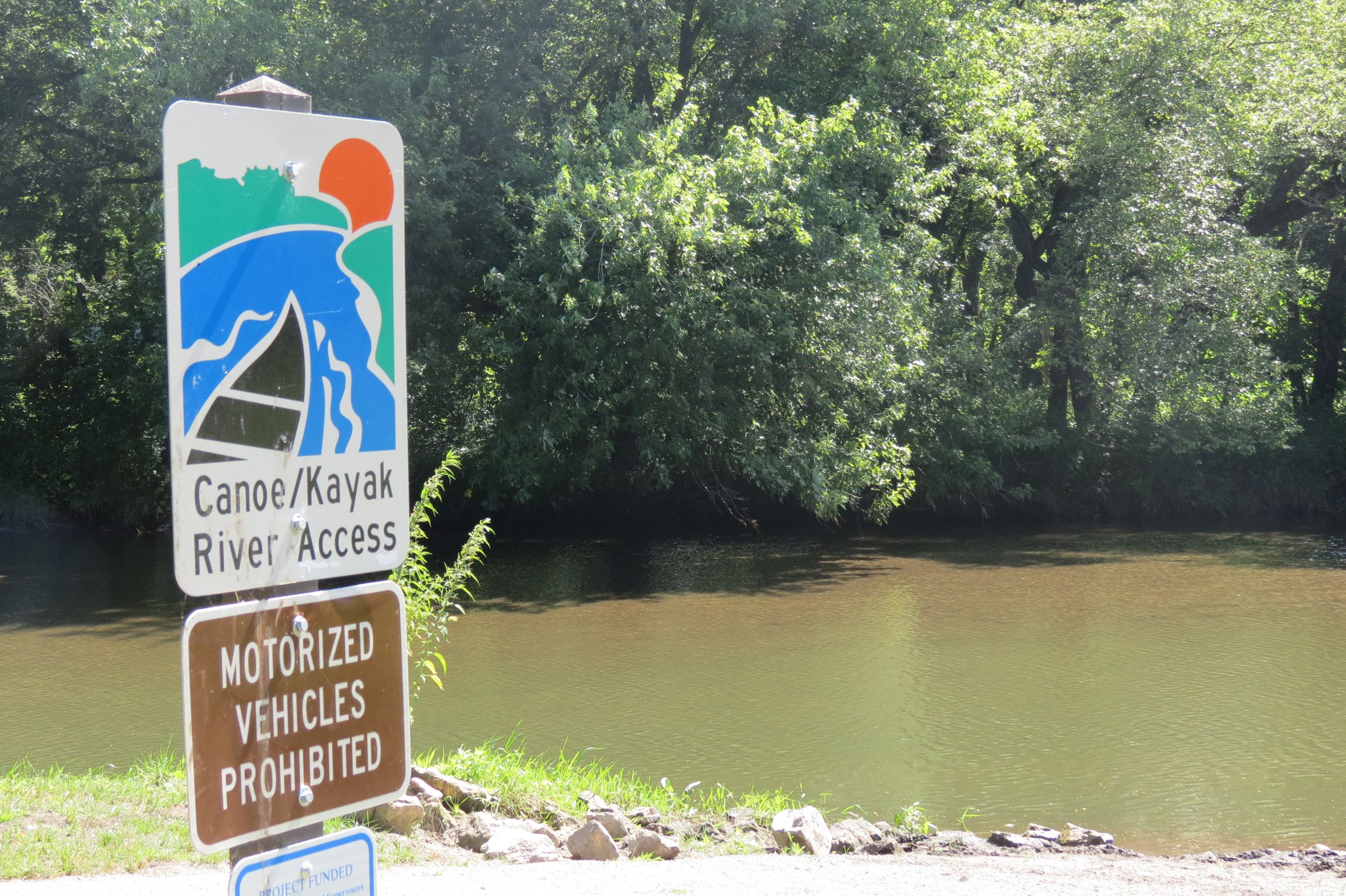 Kayak access at Buffalo Creek Park