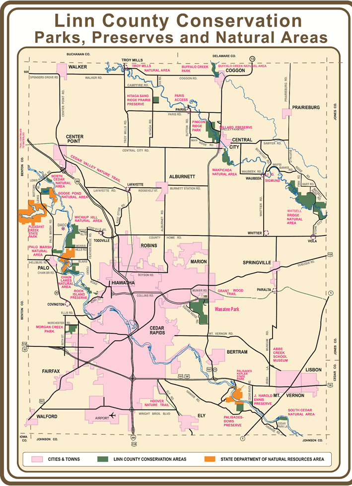 Linn County Conservation map