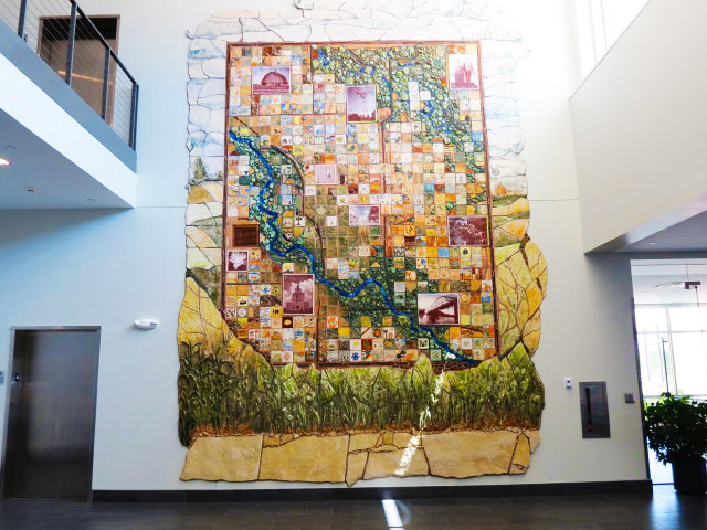 Mosaic Tile - Community Services Building