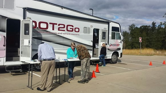DOT mobile unit at the Community Services Building